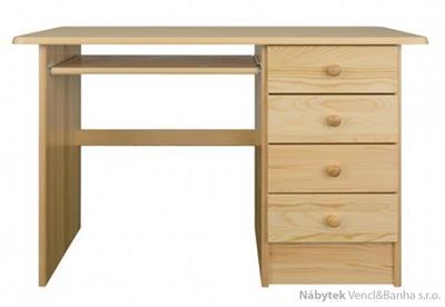 dřevěný psací stůl, PC stolek z masivního dřeva BR120 pacyg