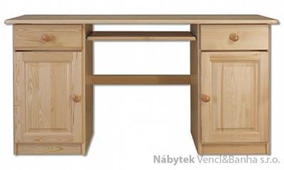 dřevěný psací stůl, PC stolek z masivního dřeva BR101 pacyg