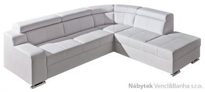 luxusní moderní rohová sedací rozkládací souprava Oskar 2 dolm