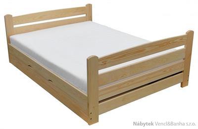 dřevěná jednolůžková postel s úložným prostorem Arkadia chalup