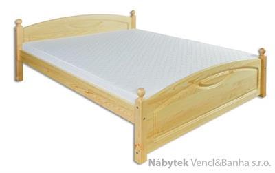 dřevěná dvojlůžková postel z masivního dřeva LK103