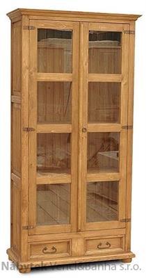 dřevěná vitrína stylová z masivního dřeva borovice VIT06 euromeb