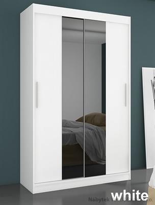 moderní dvojí dvířková šatní skříň zrcadlová s posuvnými dvířky Dallas adrk