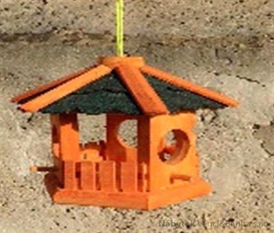 dřevěná dekorace ptačí krmítko závěsné malé Kuba 17