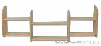 dřevěná závěsná polička z masivního dřeva borovice PK101 pacyg