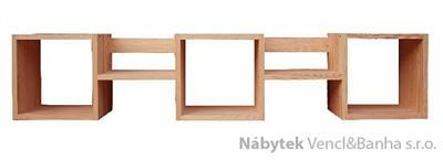 dřevěná polička z masivu  Mango VI drewm