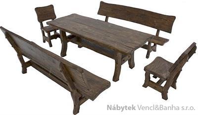 dřevěný zahradní nábytek set Goral dras 1S+2L+2K  euromeb 15