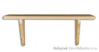 dřevěná závěsná polička z masivního dřeva borovice PK122 pacyg
