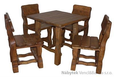 dřevěný zahradní nábytek set 1S+4K  euromeb 3