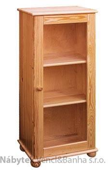 dřevěná knihovna, vitrína z masivního dřeva borovice drewfilip 14