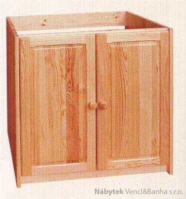 dřevěná kuchyňská skříňka dřezová dolní z masivního dřeva borovice drewfilip 14