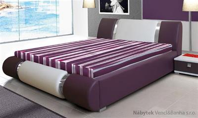 dvoulůžková čalouněná manželská postel Riva 2 karol