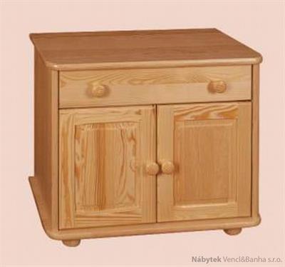 dřevěný noční stolek z masivního dřeva borovice drewfilip 17