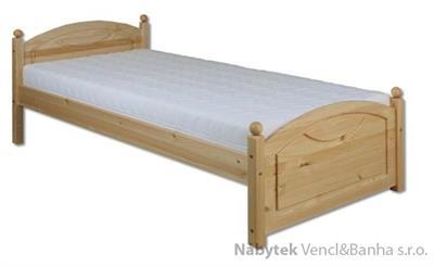 dřevěná jednolůžková postel z masivního dřeva LK126