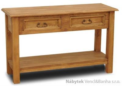 dřevěný rustikální stylový konferenční stolek z masivního dřeva borovice Mexicana CON07 euromeb