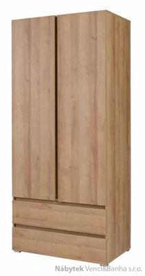 moderní šatní skříň z dřevotřísky Cosmo C02 maride
