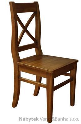 dřevěná rustikální stylová jídelní židle z masivního dřeva borovice Mexicana D25 euromeb