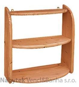 dřevěná závěsná polička z masivního dřeva borovice drewfilip 31