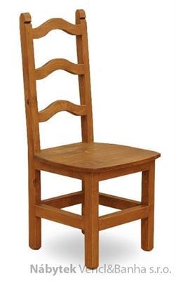 dřevěná rustikální stylová jídelní židle z masivního dřeva borovice Mexicana SIL04 euromeb