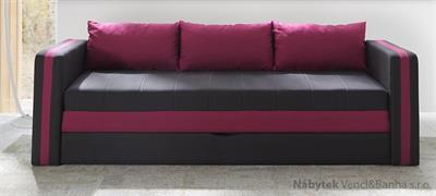 moderní pohovka gauč rozkládací Euforia duo gib růžová
