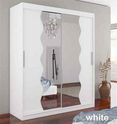 moderní dvojí dvířková šatní skříň zrcadlová s posuvnými dvířky Kansas adrk