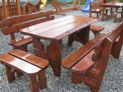 dřevěný zahradní nábytek vencl set 1+2+2 Zwykly 3 botodre
