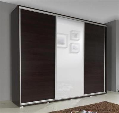 moderní šatní skříň s posuvnými dvířky se zrcadlem Silver 255 maride