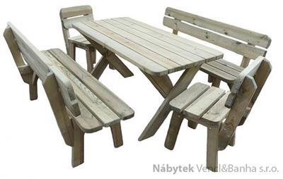 dřevěný zahradní nábytek 1S+2L+2K  euromeb 18