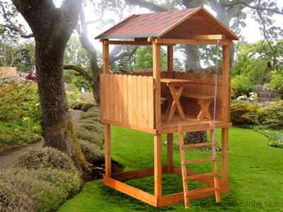 """dřevěná zahradní dekorace """"Dětský domek"""" N6 botodre"""