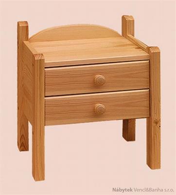 dřevěný noční stolek z masivního dřeva borovice 28 drewfilip