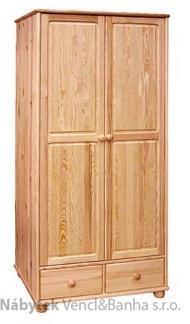 dřevěná šatní skříň dvojí dvířková z masivního dřeva borovice drewfilip 9