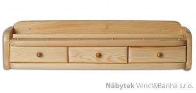 dřevěná závěsná polička z masivního dřeva borovice PK141 pacyg