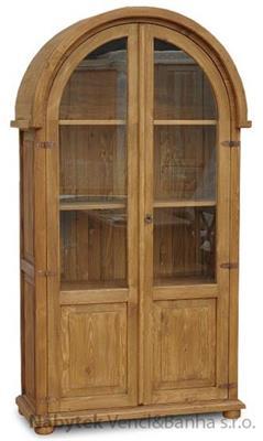 dřevěná vitrína stylová z masivního dřeva borovice VIT07 euromeb