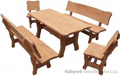 dřevěný zahradní nábytek set Goral hladký 1S+2L+2K  euromeb 16/17