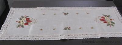 vánoční textilní ubrus 45x110 cm