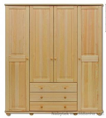 dřevěná šatní skříň z masivního dřeva borovice SF129 pacyg
