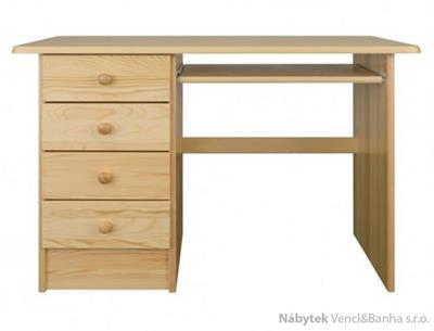 dřevěný psací stůl, PC stolek z masivního dřeva BR119 pacyg