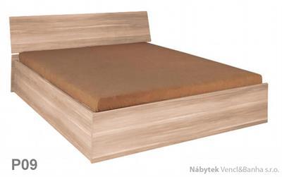 moderní dvoulůžková postel z dřevotřísky 180x200 s úložným prostorem Penelopa P09 maride