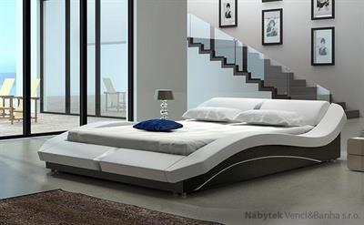 dvoulůžková čalouněná manželská postel Madera 140 chojm