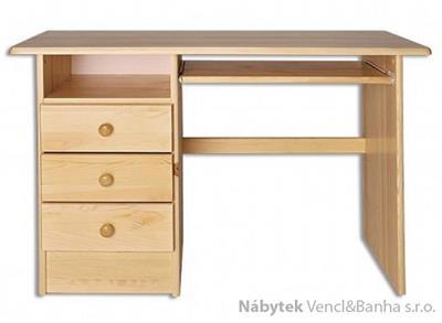 dřevěný psací stůl, PC stolek z masivního dřeva BR103 pacyg