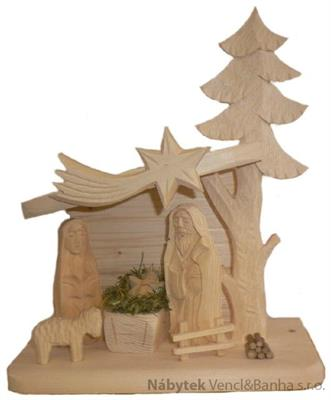 vánoční dřevěný betlem dřevořezba č.701050