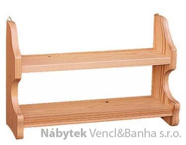 dřevěná závěsná polička z masivního dřeva borovice drewfilip 43