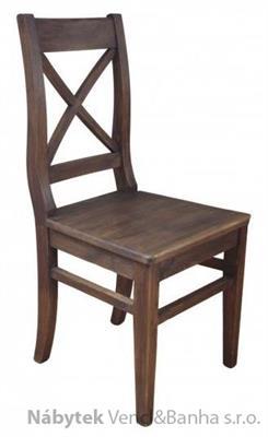 dřevěná rustikální stylová jídelní židle z masivního dřeva borovice Mexicana D25dub/vosk euromeb