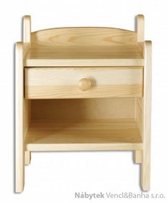 dřevěný noční stolek z masivního dřeva borovice SN107 pacyg