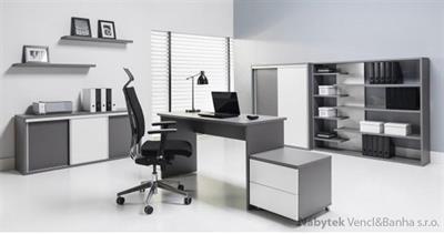 kancelářský nábytek, nábytek do pracovny z dřevotřísky, sektorový nábytek Zonda 1 maride