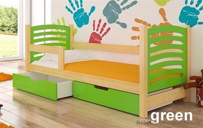 dětská dřevěná postel z masivního dřeva Camino adrk