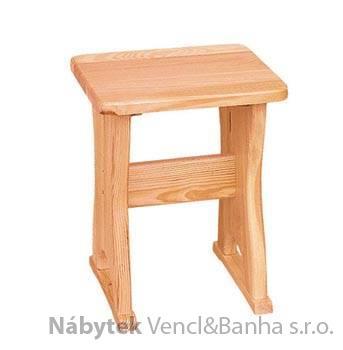 dřevěný taburet z masivního dřeva borovice drewfil 12