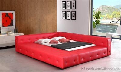 dvoulůžková čalouněná manželská postel Baron 140x200 chojm