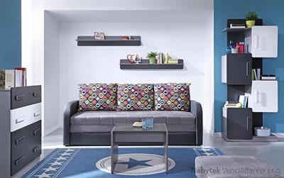 moderní obývací stěna, obývací pokoj  z dřevotřísky Lido 3 gib