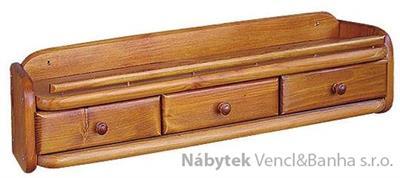 dřevěná závěsná polička z masivního dřeva borovice drewfilip 46